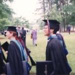 Graduation march at Regent University, VA Beach, VA 1992