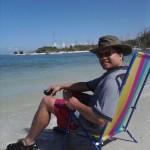 Reclining at the inlet, Bonita Beach, FL