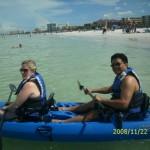Kyacking with my wife at Siesta Key, Sarasota, FL
