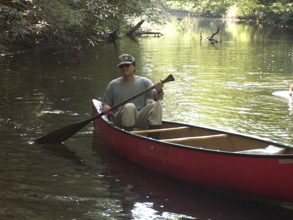 Canoeing the Saluda River at Table Rock
