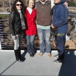 Jordan, Erin, Micah, and Me pausing over the Reedy River, Greenville, SC