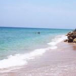 Swimming at the Grand Bahama beach