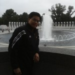 At the WWII memorial, Washington DC