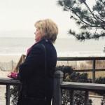 Lorri at a boardwalk in Myrtle Beach (SC)