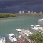 The view of the Bonita Beach marina