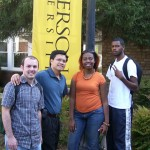 Albert Speer, me, Ilissa and Aaron during class break in front of cafeteria