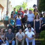 Communication history class and me (on right) in front of Watkins building