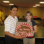 Kelly Switzer and I with the special class cookie.