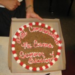 Close up of the special class cookie--it was good!