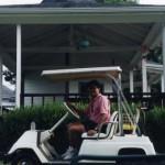 Riding through the courts, Harmony Landing Country Club, Goshen, Kentucky