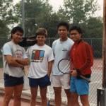 Rex Ecarma, JJ, Chris Daep and me at the courts