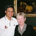 With family friend Kay Griggs, at Va. Beach, VA