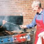 President Epting grilling my favorite steaks