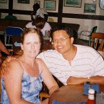 Eating at my wife Lorri's fav restaurant at Port Lucayo, Grand Bahama Island