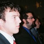 NGU students Justin Hunt and Ben Carnes (background).