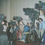 Washington Press Corp awaiting presidential spokesman Tony Snow.