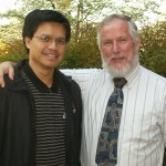 Danny R. Faulkner, Professor of Astronomy and Physics at the University of South Carolina, and I at a local cosmology conference in Greenville, SC.